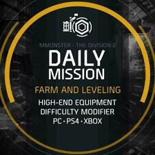 The Division 2 Daily Mission Boost Service Farm and Leveling PC/PS4/XBOX