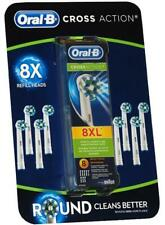 Genuine Braun Oral B CROSS ACTION Replacement Electric Toothbrush Heads 1-8