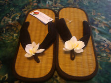 Women's Tatami Mat Flip Flop With Silk Orchid