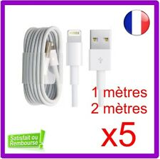 CABLE CHARGEUR USB 1 et 2 METRES RELAX IPHONE 6 6S 7 8 Plus XR X XS Max 5S SYNC