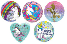 Unicorn Balloons Girls Birthday Party Female Kids Air Helium Magical Decoration