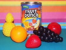 New! Kids can of fruit punch w/fruit pretend play food lot strawberry pineapple