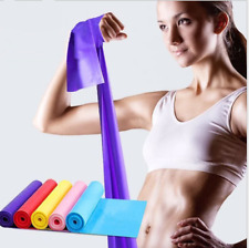 1.5m Elastic Yoga Stretch Resistance Exercise Fitness Band Theraband Strap Belt