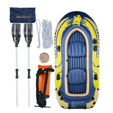 4 Person Inflatable Rafting and Fishing Boat Set+2 Oars+3 Mini Boat Toys US