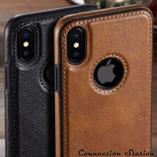 Luxury Vintage PU Leather Back Ultra Thin for iphone X XS XR 8 7 6 6S Plus Case