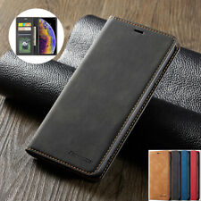 For iPhone Xs Max Xr 7/8/6/6s Plus Leather Magnetic Flip Wallet Card Case Cover