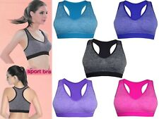 Womens Padded Sports Bra Ladies Crop Top Gym Yoga Workout Run Fitness Exercises