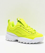 NEW Womens FILA Disruptor II Shift Yellow Shoes Two 2 Reflective