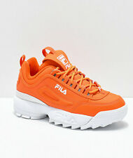 NEW Womens FILA Disruptor II Orange Shoes Two 2