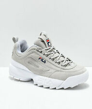 NEW FILA Disruptor II Premium Suede Grey Shoes Womens Two 2