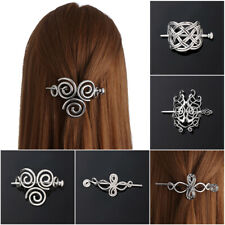 Women Viking Runes Hair Clips Knots Crown Hairpins  Jewelry Vintage  Barrettes