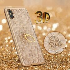 Luxury Cases For Xiaomi Mi A2 Lite A1 Case Soft Gold Glitter Diamond 3D Ring
