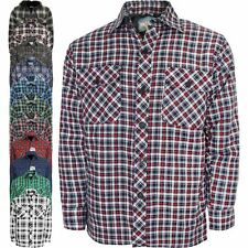 WORK PADDED BUTTON SHIRT QUILTED LINED LUMBERJACK FLANNEL JACKET WARM THICK TOP