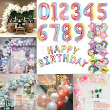 Age Number 1st/16/18/21/30/40/50/60/70/80th Happy Birthday Balloons Arch Kit Set