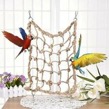 Pet Parrot Bird Climbing Net Cage Swing Rope Toy Hanging Hammock Macaw Play Gym