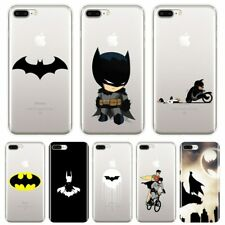 Back Cover For iPhone 6 S 6S 7 8 X XR XS Max DC Superhero Marvel Batman Soft