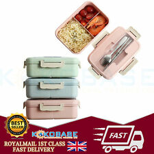 Wheat Straw Lunch Box Food Container Set Bento Lunch Boxes With 3-Compartment