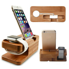 Wood Charging For Apple Watch Charger Dock Station Bambo Stand Holder For iPhone