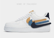 Nike Air Force 1 '07 LV8 White Blue Black Men's Trainers All Sizes