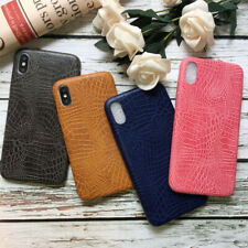 Crocodile Grain PU Leather For iPhone Xs Max XR X 8 7 6+ Slim Soft Case Cover