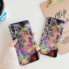 Luxy Plating Datura Flower IMD Back Case Cover For iPhone XS Max XR X 8 7 6 Plus