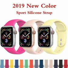 Sport silicone strap for Apple watch 4 band 44mm 40mm bracelet belt iwatch 4 3 2