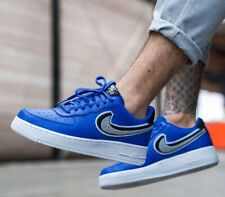 NIKE AIR FORCE 1' 07 LV8 GAME ROYAL WOLF GREY 823511409 MEN'S AUTHENTIC  SHOES