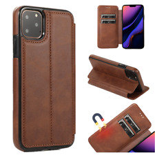 Magnetic Card Slot Leather Holder Case Cover For iPhone 11 Pro Max XS XR 8 7 6+