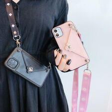 For iPhone 8 7 Plus XS Max XR Leather Crossbody Bag Card Slot Wallet Case Cover