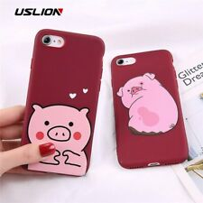 USLION Cartoon Funny Pig Phone Case For iPhone 6 7 8 Plus X XR XS Max Lovely