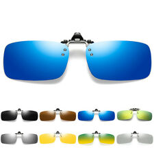 Polarized Clip On Flip Up Sunglasses Shades Clip for Myopia Glasses Eyewear