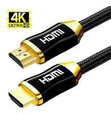 4K HDMI Cable v2.0 HD High Speed 2160p 3D HDMI Lead Gold Plated Cable Connectors