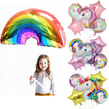 Large Rainbow Unicorn Foil Balloons Grils Boys Birthday Party Baby Shower Decor