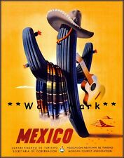 T61 Vintage Mexico Mexican Xochimilco Travel Poster Re-Print A2//A3//A4