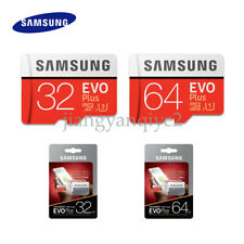 SAMSUNG EVO Plus 32G 64G MicroSD Micro SDXC C10 Flash Memory Card w/ SD Adapter