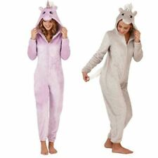Ladies Unicorn Bodysuit Babygrow Funsie Soft Fleece Jumpsuit Sizes S-XL 2 Colour