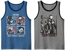 Captain America Civil War Team Stark Tank Top T-Shirt - Men's XL - New w/Tags!