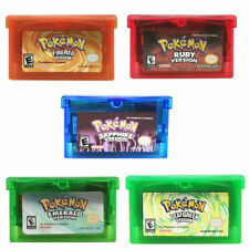 Pokemon Game Card Fire/Leafgreen/Emerald/Ruby/Sapphire Version For GBA Game