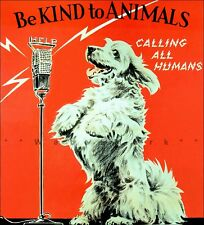 KA05 VINTAGE BE KIND TO ANIMALS A3 POSTER PRINT