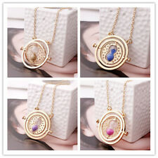 Harry Potter Time Converter Hourglass Necklace Golden Pendant Chain Jewelry Gift