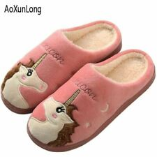 Unisex Winter Warm Slippers Women Plush Indoor Flat Shoes Ladies Outside Leisure