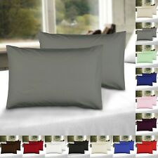Pillow Cases 2 X Luxury Super Soft Housewife Pillowcases Percale Pillow Covers