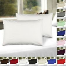 2 X Pillow Cases Percale 100% Soft Cotton Housewife Pillowcases Luxury Covers