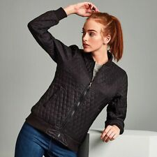 Womens Jacket Women's Quilted Flight Jacket Black Diamond Quilted Jacket TS26F