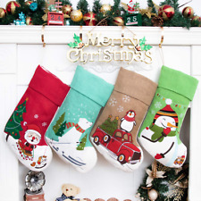 Beyond Your Thoughts 2019 New Christmas Stocking Boot Embroidered Linen Ornament