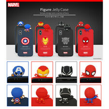 Marvel Avengers Hero Figure Toy Soft Cover For iPhone 7 8 Plus X Xs Max XR Case