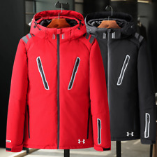 New Men's Under Armour Winter UA Down Hooded Jacket Down Coat Parka High Quality