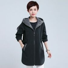 2019 Spring Cotton trench coat sashes Casual Windbreaker female hooded zipper
