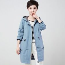 2019 Spring Cotton Cocoon trench coat Casual Windbreaker female hooded zipper