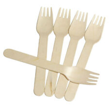 NEW DISPOSABLE WOODEN FORKS  BIODEGRADABLE  COMPOSTABLE / ECO FRIENDLY / QUALITY